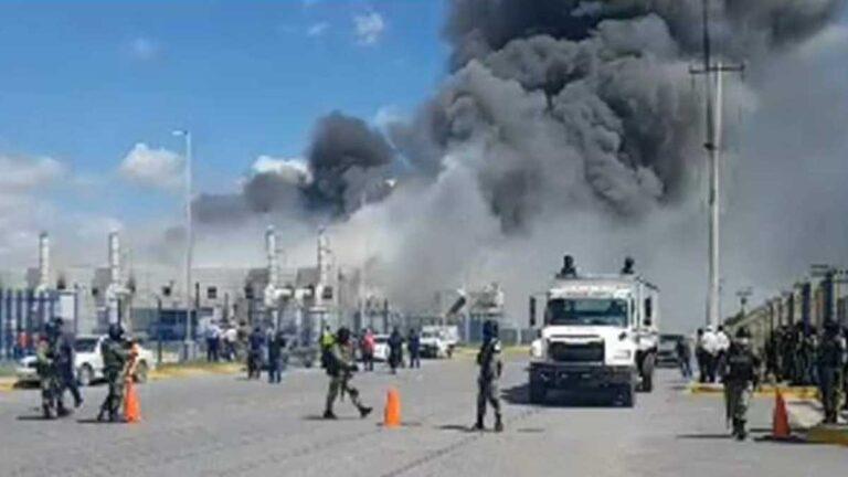 Incendio de maquiladora en Reynosa