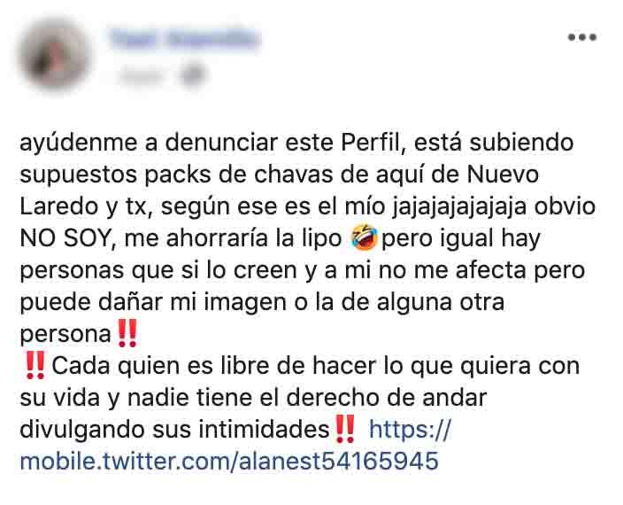 ¡CUIDADO! Ofrecen packs de personas de Nuevo Laredo y Laredo