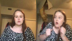 Joven graba TikTok, se abre el techo…y cae una mujer VIDEO
