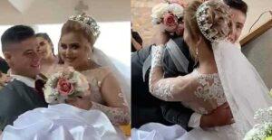 VIDEO: Conmueve novio cargando a su prometida hasta el altar