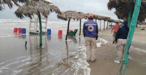 Vuelven a cerrar playa Miramar por frente frío