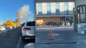 Alarma a fronterizos nube de humo en Puente Internacional 2