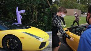 Youtuber Mr Beast regala Lamborghini a pasajero de Uber