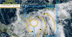 """Sistema frontal """"salvará"""" a Tamaulipas de tormenta tropical Zeta"""