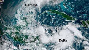 Tormenta Delta comienza a formarse y avanza hacía el Golfo de México