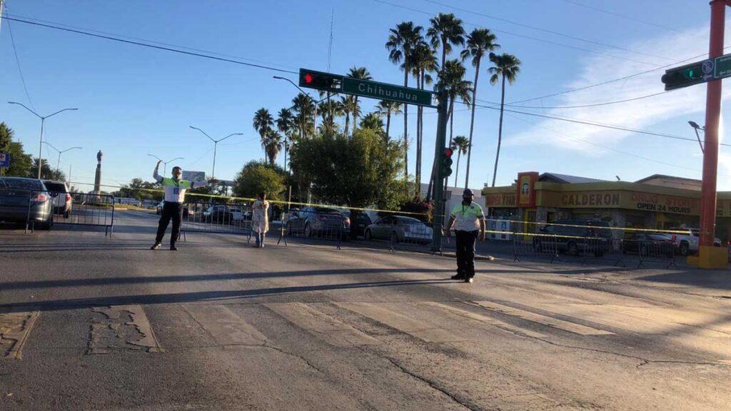 Halloween Nuevo Laredo avenida bloqueada