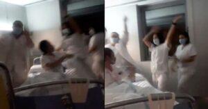 VIRAL: Enfermera finge muerte por covid para video de TikTok; causa polémica