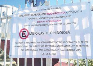 Laboran los maestros de ETI 32 bajo protesta