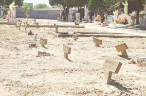 Olvidan a ángeles en el cementerio de Nuevo Laredo
