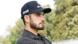 Abraham Ancer, de Reynosa cierra como líder en su segunda ronda del Masters de Augusta