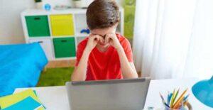 Clases en línea provocan fatiga ocular en los niños