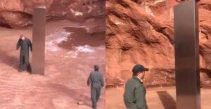 Descubren extraño monolito metálico en el desierto de Utah