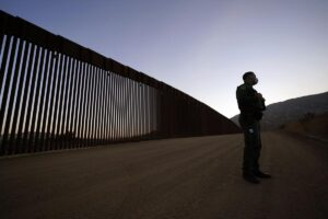 VIDEO: Migrantes cruzan muro fronterizo con escalera y se viralizan