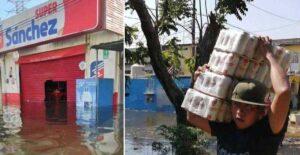 Reportan saqueos en Tabasco tras inundaciones