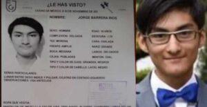 Encuentran a Jorge Barrera, el estudiante reportado desaparecido
