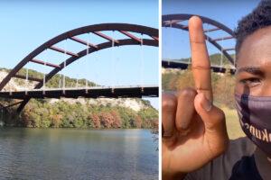 Youtuber se lanza de lo más alto de un puente en Texas y se fractura el cráneo