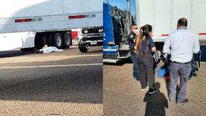 Muere trailero de Nuevo Laredo arrollado por su propio camión