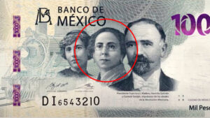 Ella es Hermila Galindo, la mujer que aparece en los billetes de mil pesos