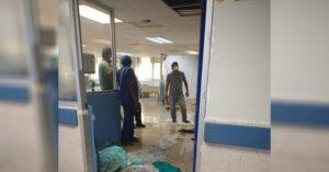 Cae techo falso sobre niña paciente de COVID-19 en IMSS de Madero