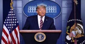 """Conferencia de Trump desde la Casa Blanca: """"Si se cuentan los votos legales, yo gano fácilmente"""""""