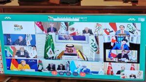 AMLO participa en reunión virtual del G20