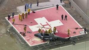 Helicóptero que trasladaba un corazón donado se estrella en la azotea de un hospital (VIDEO)