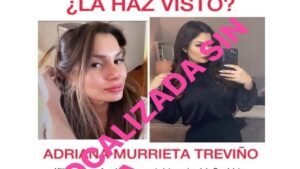 Hallan sin vida a joven influencer Adriana Murrieta