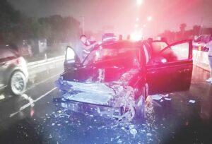 Dos lesionados en carreterazo