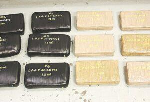 Aseguran oficiales 14.1 kilos de cocaína