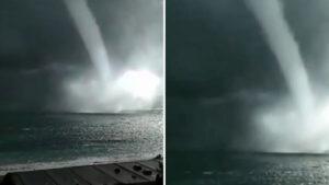 Impresionante: Captan inusuales tornados marinos en el mar negro (VIDEO)
