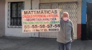 Profesor de Matemáticas de 80 años sale a las calles para ofrecer clases