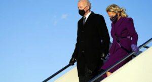 Biden llega a Washington para su investidura presidencial