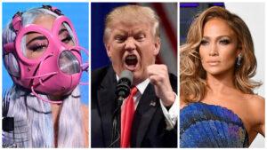 Trump, 'furioso' de que Gaga y J. Lo participen en inauguración de Biden