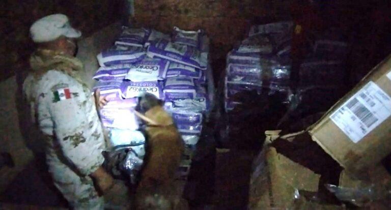 Efectivos del Ejército mexicano aseguraron más 849 kilogramos de metanfetamina en Baja California Sur.