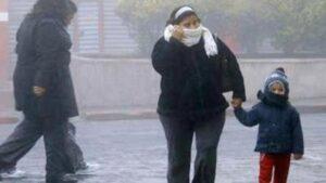 Bajas temperaturas en casi todo el país por Frente Frío 25