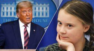 """""""Parece un anciano muy feliz""""… la irónica despedida de Greta Thunberg a Trump"""