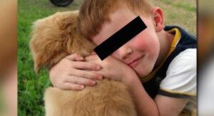 Niño es abandonado en cementerio junto a su perro
