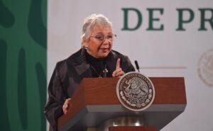Olga Sánchez Cordero reiteró su apoyo para despenalizar el aborto