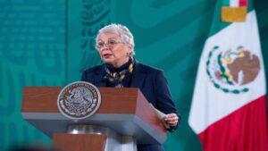 Presidente se encuentra en plena recuperación: Olga Sánchez