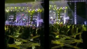 Pese al repunte de Covid-19, realizan baile con más de mil personas (VIDEO)