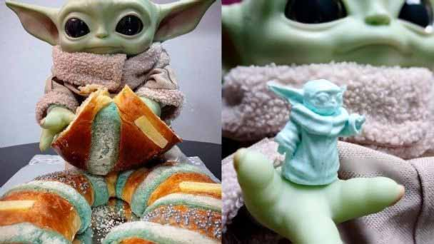 Baby Yoda, presente en la rosca de reyes
