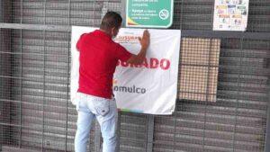 Clausuran centro comercial por atender con empleados enfermos de covid