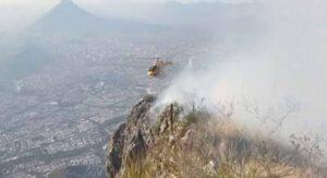 Detienen a 7 excursionistas por provocar incendio en el Cerro de la Silla