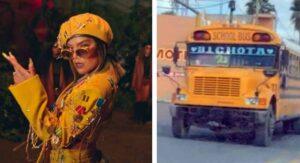 """Nombran """"Bichota"""" a autobús en Reynosa y Karol G responde"""
