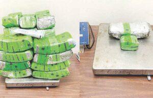 Detectan 136 libras de metanfetaminas