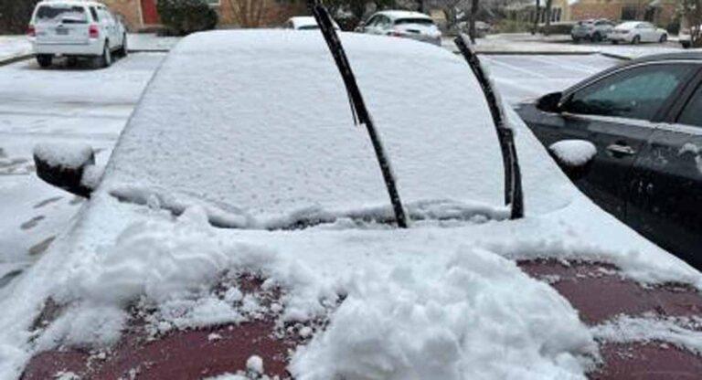 A poco tiempo de viaje de la frontera puedes viajar y ver la primera nevada en Texas