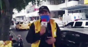 VIDEO Periodista se entera de la muerte de su esposa por Covid-19 durante enlace en vivo