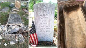 """Profanan tumbas de veteranos y usan restos para rituales """"religiosos"""""""