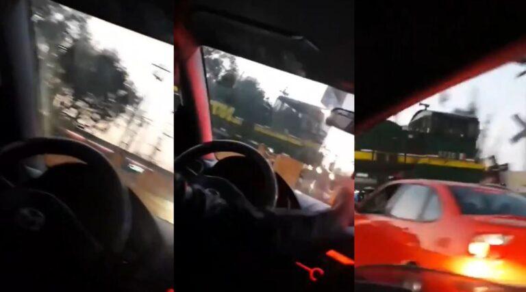 Tren embiste a patrulla y policía sobrevive de milagro