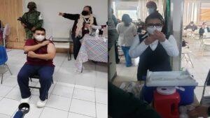 Aplican las primeras vacunas contra covid en Nuevo Laredo